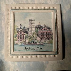 Boston Landmarks Ceramic Handpainted Magnet